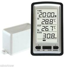 Wireless LCD Weather Station Rain Gauge Digital Indoor and Outdoor Thermometer