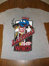 M&Ms WORLD lrg T shirt milk chocolate poker cards King mascot Las Vegas tee