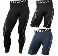 Mens COOVY Compression Wear Athletic Under Base Layer Sports Short and Tights