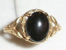 Hawaiian Black Coral 14K Yellow Gold Ring 6.25 1.9g