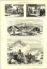 1877 Famine India Punjab Battle Of Jahnilar Hospital Karaghatsch Engraving