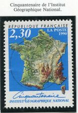 STAMP / TIMBRE FRANCE OBLITERE N° 2662 INSTITUT GEOGRAPHIQUE