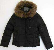 DKNY Girls Black Split Trim Hooded Down Puffy Jacket (M) NWT
