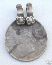 Queen Victoria Coin Pendant Ancient Tribal Old Silver