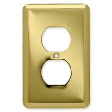 126436 Brass Stamped Single Duplex Outlet Cover Plate 6 Pack