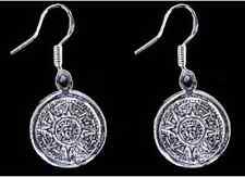 LOOK Mayan Calendar Survive 2012 Sun Real Sterling silver Maya Charm earrings Je