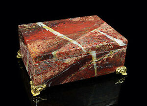 Box made of natural stone from jasper 9