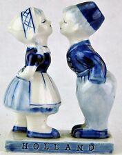 "Delft porcelain figurine ""Kissing Boy and Girl""  5"" tall. (BI#MK/BSM)"
