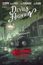 DEVIL'S HIGHWAY #1 - BRENT SCHOONOVER ART & COVER - AWA UPSHOT/2020