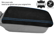 BLUE STITCH REAL SUEDE ARMREST LID COVER FITS SUBARU FORESTER SG9 2006-2008