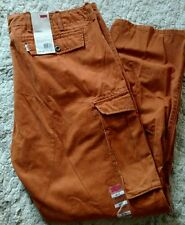 LEVIS NEW MENS CARGO PANTS RELAXED FIT PUMPKIN ORANGE NWT 40X32