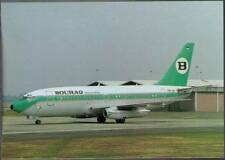 (vs4) Airplane Postcard: Bouraq Indonesia Airlines, Boeing 737-230