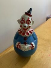 VINTAGE TOY 1960'S RED BLUE CLOWN ROLY POLY FIGURE B2