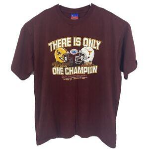 2007 Champion Arizona State Texas Longhorns Holiday Bowl T-Shirt 2XL XXL