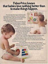Vintage Fisher Price Activity Center Crib & Playpen Toy Ad 1979