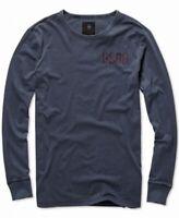 G-Star Raw Mens Shirt Navy Blue Size XL Graphic Longsleeve Jersey $70 #018