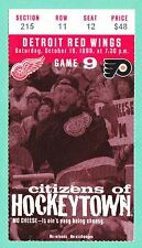 10-16-99 Flyers @ Red Wings NHL Hockey Ticket Stub Bowman 1100 Win From The Joe