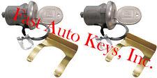 NEW PAIR GM BUICK OEM DOOR LOCK KEYED CYLINDER W/2 OEM GM LOGO KEYS 608307