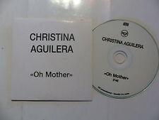 CD  single Promo CHRISTINA AGUILERA Oh mother