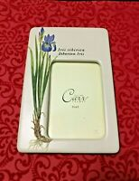 CARR Photo Frame for 3.5 x 5 Pic Iris Flower Ceramic Decorative Collectible