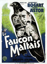 THE MALTESE FALCON Movie Promo POSTER French D Humphrey Bogart Mary Astor