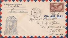 CANADA, 1935. First Flights C5, Red Lake - Golden Arm, w/Return