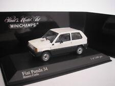 FIAT PANDA 34 1980 BLANCO 1/43 Minichamps 400121400 NUEVO