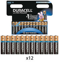 12 x DURACELL AAA ULTRA POWER ALKALINE BATTERIES LR03, MX2400, MN2400, MICRO.