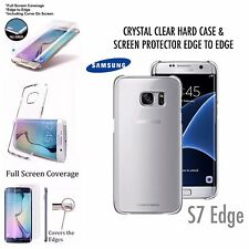 THIN CLEAR HARD BACK CASE COVER GALAXY S7 EDGE & NEW 3D CURVE SCREEN PROTECTOR