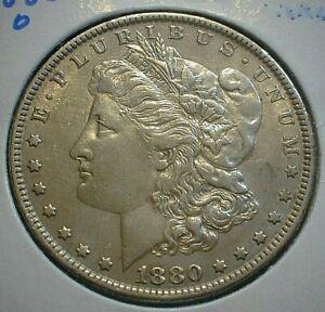 1880-O USA Morgan silver Dollar AU Details Cleaned as shown KM#110  (633)