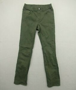 Uniqlo Pants Kids Extra Large XL Chino Olive Green Skinny Casual Cotton Blend