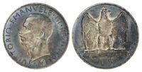 Italy, 1927 - R, 5 Lira, Silver - Toned  Vittorio Emanuele, World Coin *b