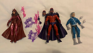 """Marvel Legends 6"""" Family Matters 3 Pack Magneto, Scarlet Witch & Quicksilver"""