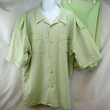 Men's Casual Walking Leisure Suit 3XL / 44 Montique Green Shirt Pants