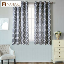 NAPEARL 1 Panel Semi-shade Window Curtain Jacquard Modern Polyester Decor Drapes