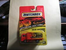 1996 Matchbox #23 Volvo Container Truck Fast Lane