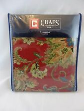 """New CHAPS Home Annabelle Valance 80"""" x 17"""" Ralph Lauren Red Floral"""