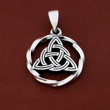 Triquetra silver pendant sacred geometry symbol ancient celtic symbol trixelion