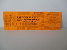 Corvette Nationals 1989 Participant Pass;
