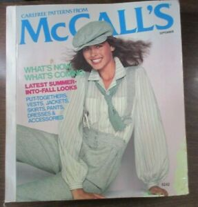 McCall's September 1978 Store Counter Book Pattern Catalog Orphan Annie J Weitz