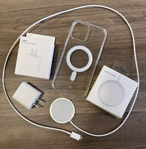 For iPhone 12 Pro Max Wireless 18w Charger Mag safe Magnetic Fast Charging+Case