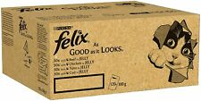 Felix As Good As it Looks Cat Food Mixed in Jelly, 120 Pouches, 120 x 100g