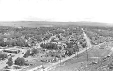 Rawlins Wy Panorama View Highway Us 30 Signed Sanborn Rppc Postcard