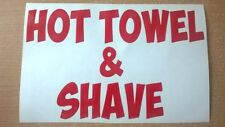 turkish barber barbers hot towel & shave shop sign window door vinyl sticker cut