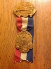1956 Democratic National Convention Medal Badge Governor Adlai Stevenson