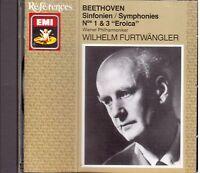 Beethoven : Symphonies (Symphonies) No 1 & 3 Eroica / Furtwangler,Wiener - CD
