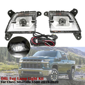DRL Fog Lamp Light Kit For Chevy Silverado 1500 2019-2020 w/ Lighting 84125494