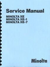 Minolta XE, XE-1, XE-7 Repair Manual Reprint