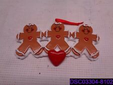 Qty = 12: Gingerbread Family Personalized Christmas Tree Ornament RM8-2, RM8-3