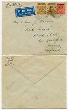 La birmanie myo alexandra caserne annule 1939 WW2 airmail inde opte. à guildford